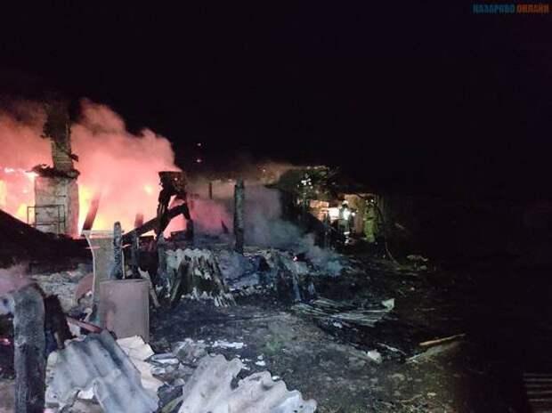 В Назаровском районе при пожаре погиб пожилой мужчина