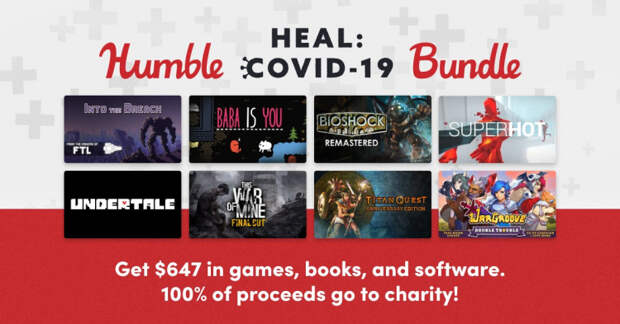 BioShock, Saints Row: The Third и другое: Humble Bundle продаёт сборник игр и книг для помощи больным COVID-19