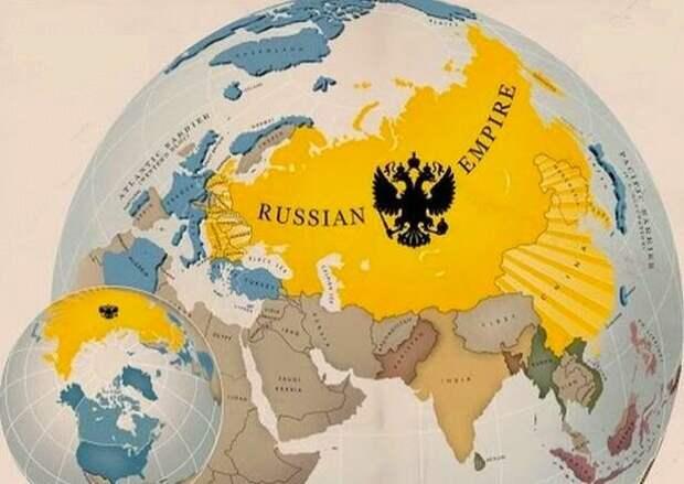 По этой карте прекрасно видно, как прочно Российская империя защищала Европу от вторжения в нее с Востока диких орд