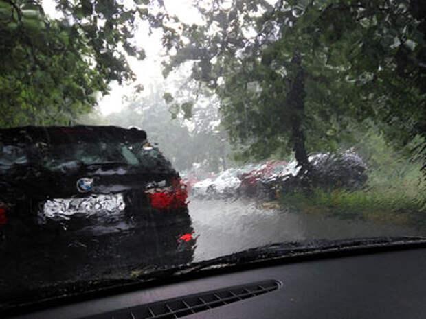 Обрушившийся на Москву ураган поломал деревья и вырвал автобусную остановку