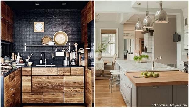20 красивейших вариантов деревянной кухни!