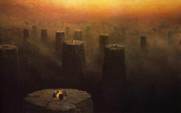 Мрачный сюрреализм Здзислава Бексиньского. \ Фото: twitter.com.