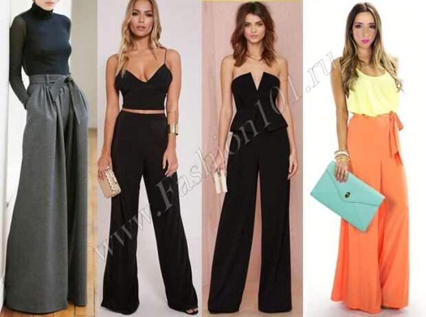 Модные образы с широкими брюками палаццо