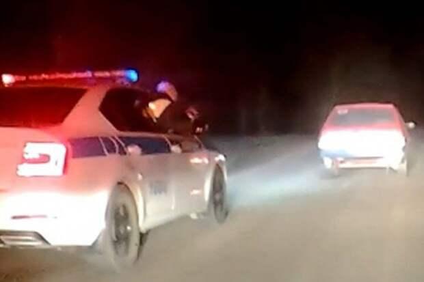 Ночная погоня в Красногвардейском районе: полицейским пришлось стрелять по колесам, чтобы остановить красную «девятку»