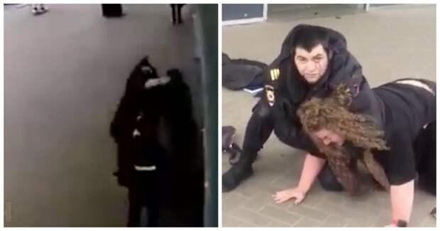 В Архангельске женщина разбила полицейскому лицо за просьбу надеть маску