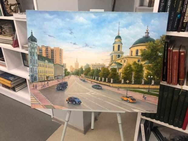 В Лианозовской библиотеке открылась выставка картин Ашота Шагиняна