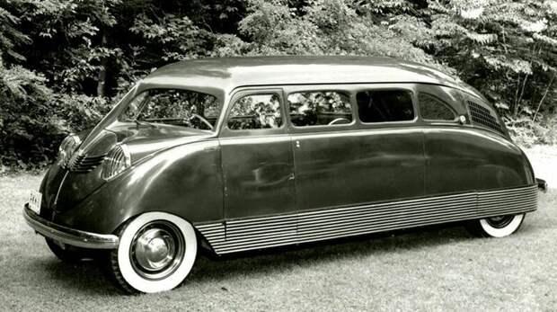 Прототип просторной заднемоторной легковушки Scarab с колесной базой 3,4 метра. 1932 год авто, автомобили, атодизайн, дизайн, интересный автомобили, олдтаймер, ретро авто, фургон