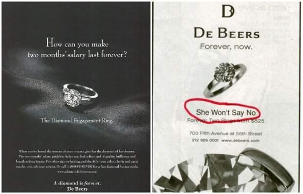 Рекламная компания корпорации De Beers