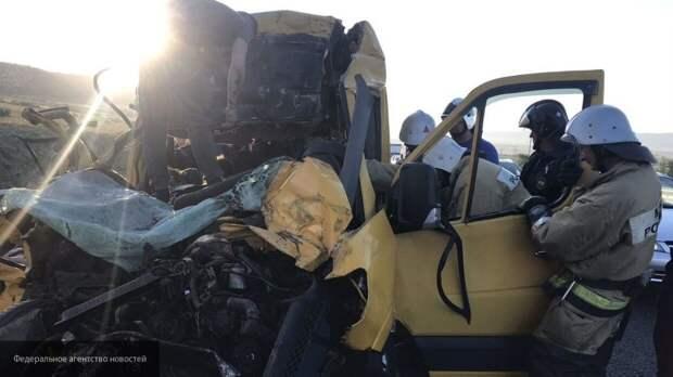 Кадры с места смертельной аварии в Крыму появились в Сети