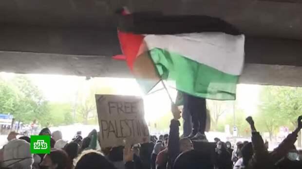 Массовые демонстрации в поддержку Палестины в Европе завершились стычками с полицией