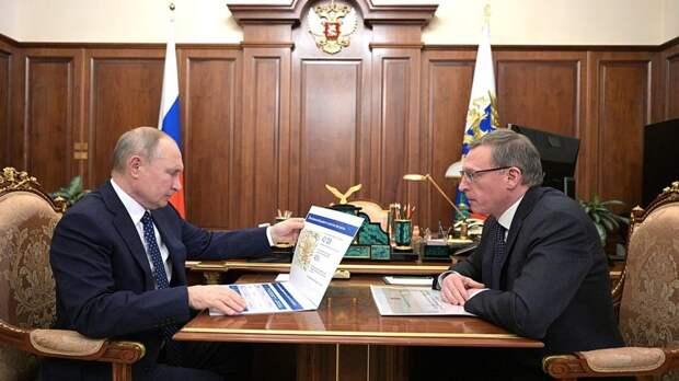Путин обсудил с омским губернатором нацпроекты и ситуацию в регионе