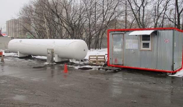 Возведенную в обход закона газовую автозаправку демонтировали в Ярославском