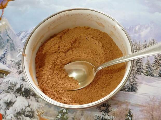 сахар какао и мука