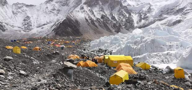 Лагерь альпинистов на Эвересте