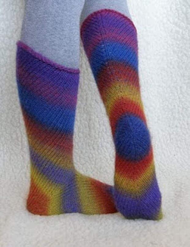 Носочки, связанные, начиная с пятки.