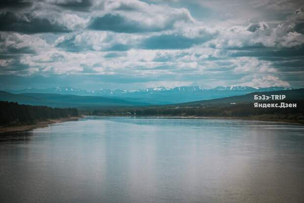 Река Алдан в городе Томмот. Здесь Алдан еще не так широк