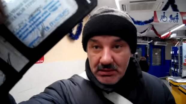 Киевского «Патриота», требовавшего говорить с ним по-украински, проучил пожилой «АТОшник» (ВИДЕО)