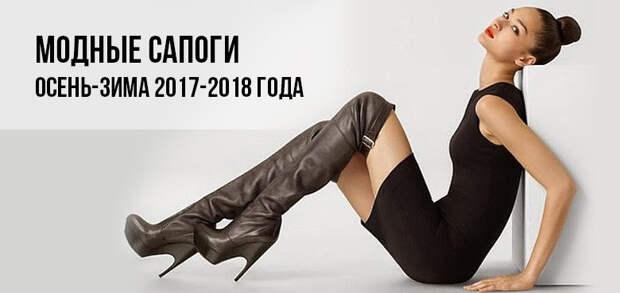 Модные сапоги 2017-2018 год
