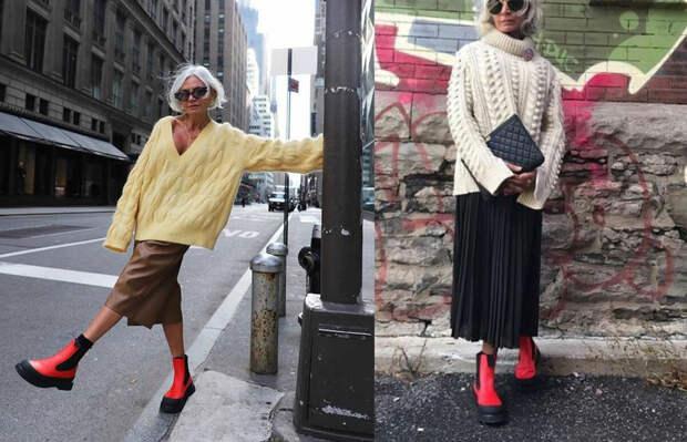 Модные ботинки в стиле милитари для дам непризывного возраста