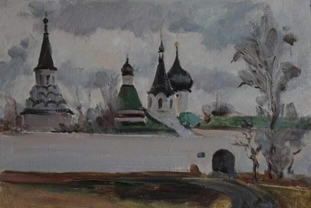 Александровская слобода. Картина Александра Маслова.