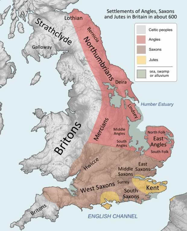Англия около VII века.