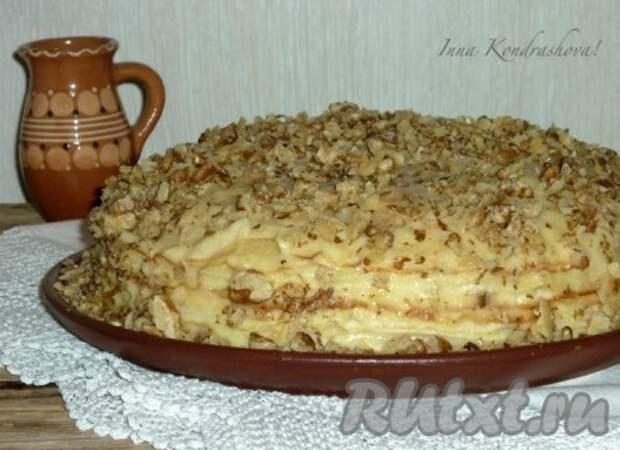 Рецепт блинного торта с заварным кремом