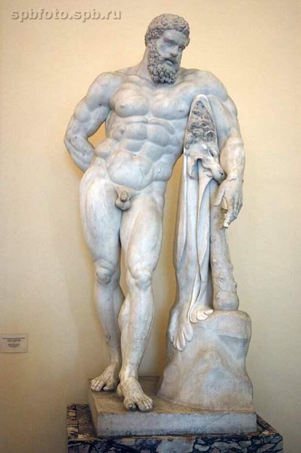 статуя Геракла из Эрмитажа. Фото из интернета