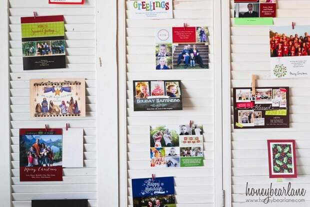 12 крутых и уютных идей, как украсить квартиру открытками