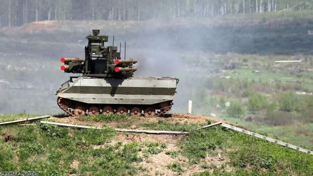 """Российский робот """"Уран-9"""" с дизельным двигателем удивил военного эксперта из США"""