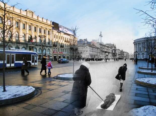 Ленинград 1942-2009 Невский проспект. Блокада блокада, ленинград, победа