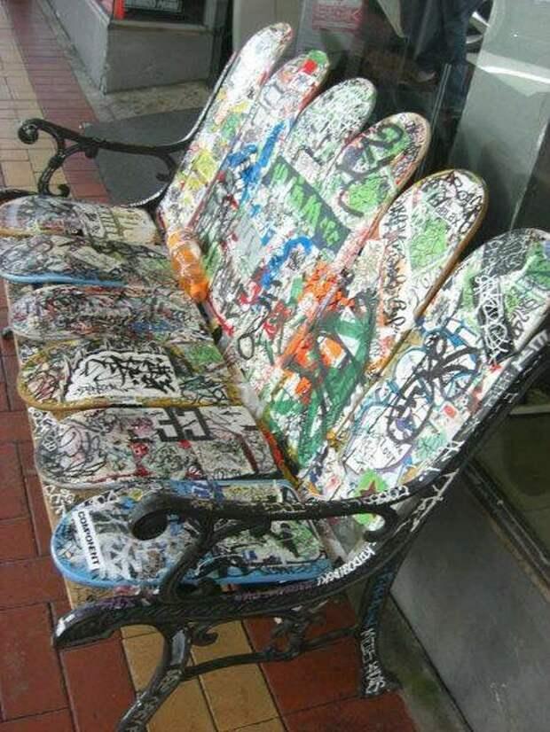 Предметы интерьера из скейтбордов (трафик)
