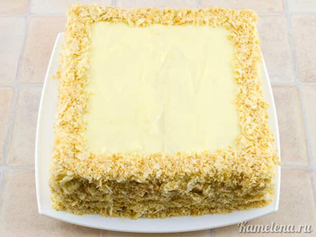 Торт «Наполеон» из слоеного теста — 12 шаг