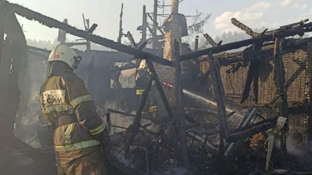 ВСвердловской области горели 13 садовых домов
