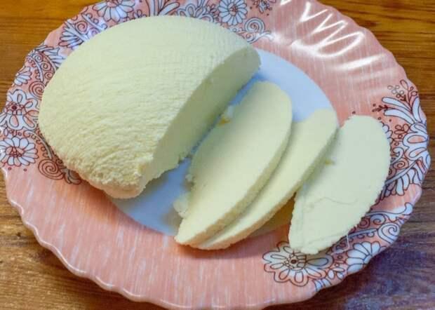 Простейший рецепт домашнего сыра к утреннему чаю. Быстро готовится и быстро съедается