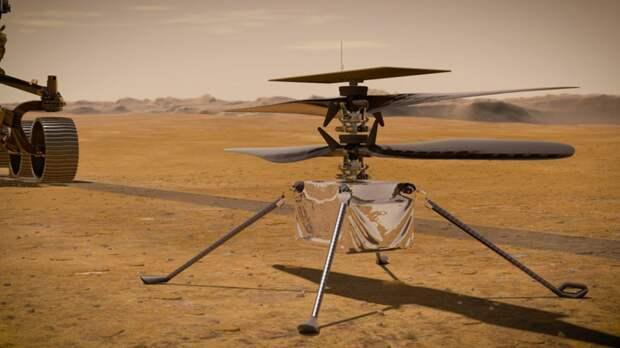 Марсианский вертолет Ingenuity впервые переместился на новое место