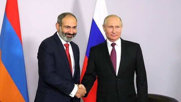 Путин и Пашинян не обсуждали вопрос помощи РФ в связи ситуацией на границе с Азербайджаном