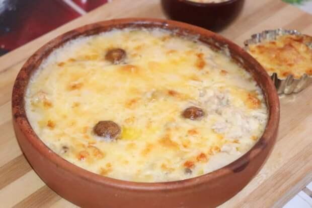 Жульен с курицей и грибами: классический рецепт жульена с курицей в духовке