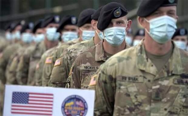 На фото: американские военнослужащие во время международных военных учений