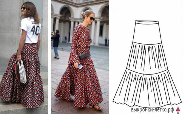 Шьем красивую летнюю юбочку: простые выкройки с описанием