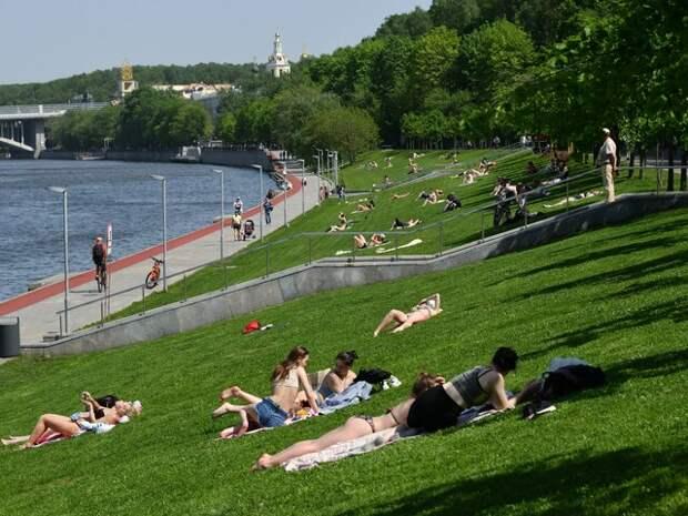Рекорд жары для 18 мая в Москве составил 30,8 градуса