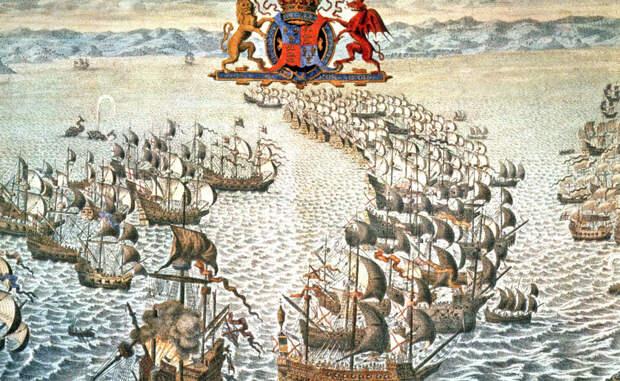 Великая армада Ксеркс был не единственным завоевателем, чьи планы разрушил шторм. Когда Филипп II послал свою великую армаду против Англии в 1588 году, летние бури задержали вторжение на два месяца, позволив англичанам подготовиться к битве. Следующие бури превратили поражение Филлипа в катастрофу: десятки кораблей и сотни тысяч людей погибли в пучине моря. Елизавета I по этому поводу сказала: «Дыхание Бога рассеяло наших врагов».
