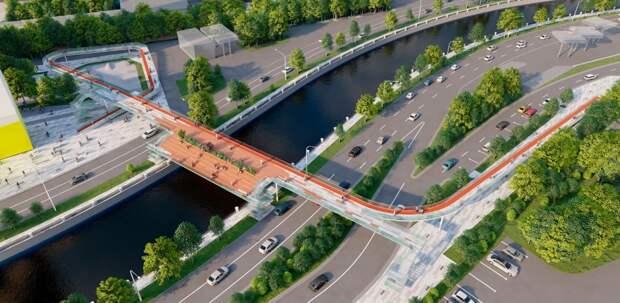 Через реку Яузу возведут пешеходный мост