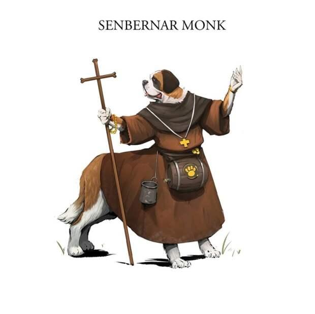 Сенбернар-монах. Автор: Никита Орлов.