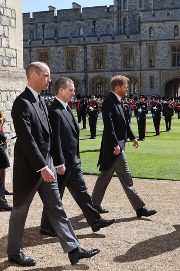 Принц Уильям, Питер Филиппс и принц Гарри