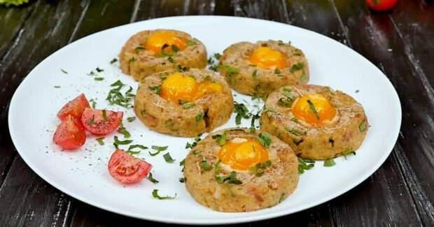 Картофельные гнёзда к завтраку