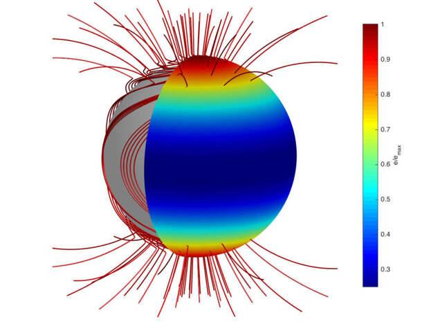 Российские астрофизики обнаружили нейтронную звезду с необычной структурой магнитного поля