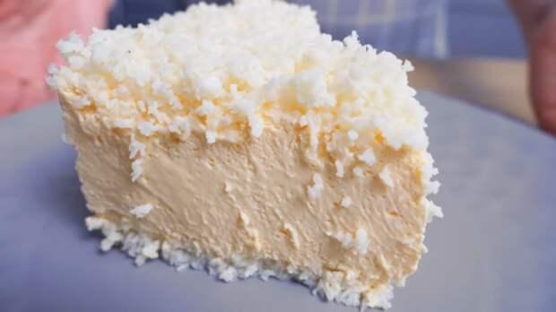 Десерт, который вкуснее мороженого. Кокос и персик — верх блаженства