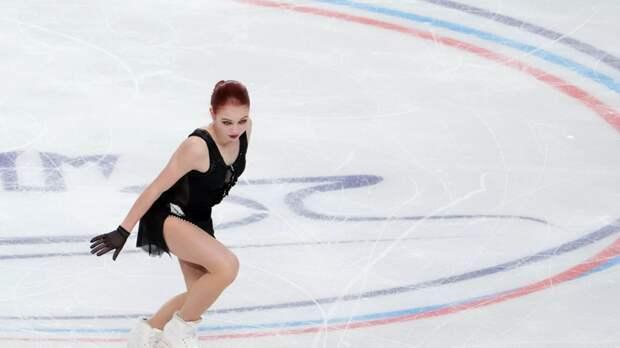 Трусова вышла на прогон короткой программы в новом платье передстартом Гран-при США