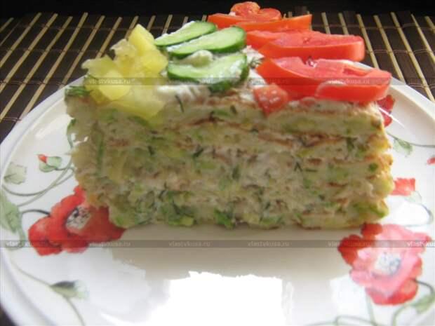 Кабачковый закусочный тортик «Находка»