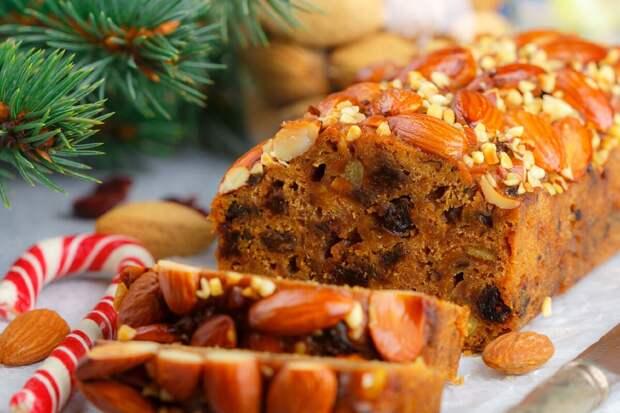 Рождественский пирог с сухофруктами и орехами